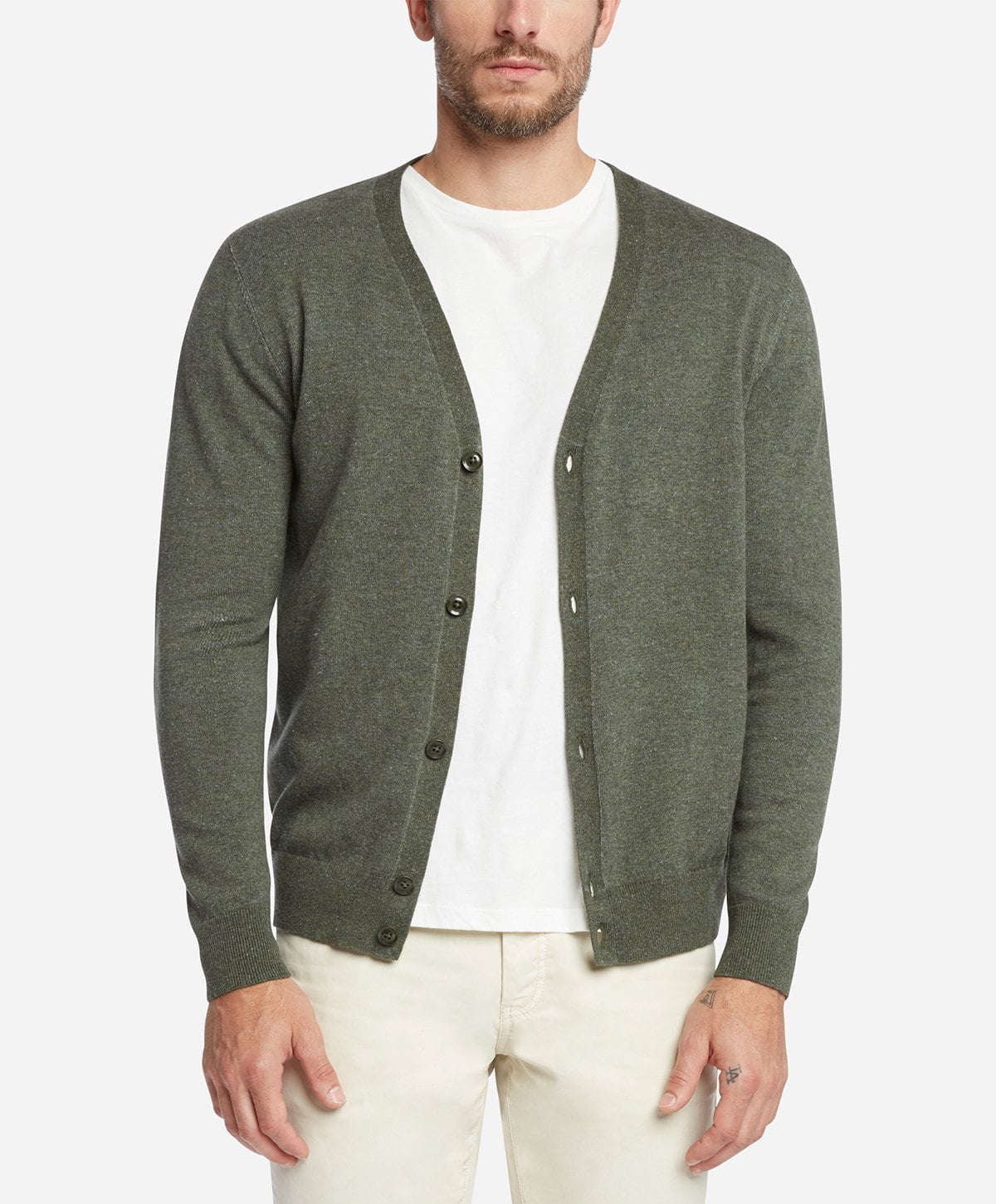 San Juan Cardigan - Heather Olive