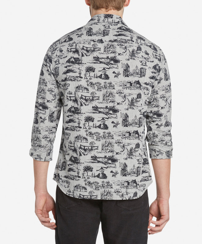 Scottish Toile Shirt - Heather Grey
