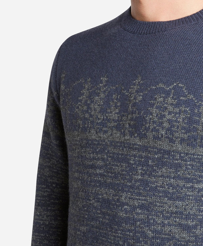 Sierra Crew Sweater - Navy