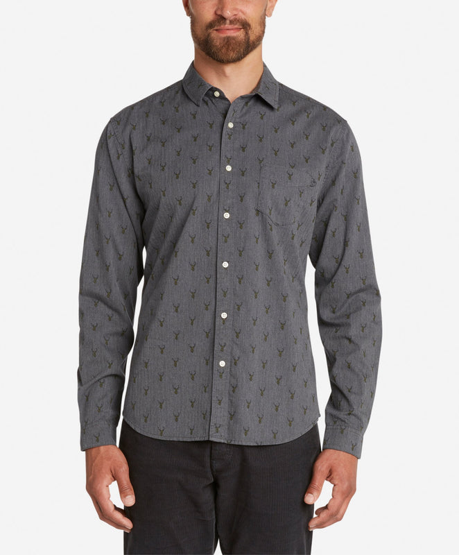 Stag Shirt  -  Heather Charcoal