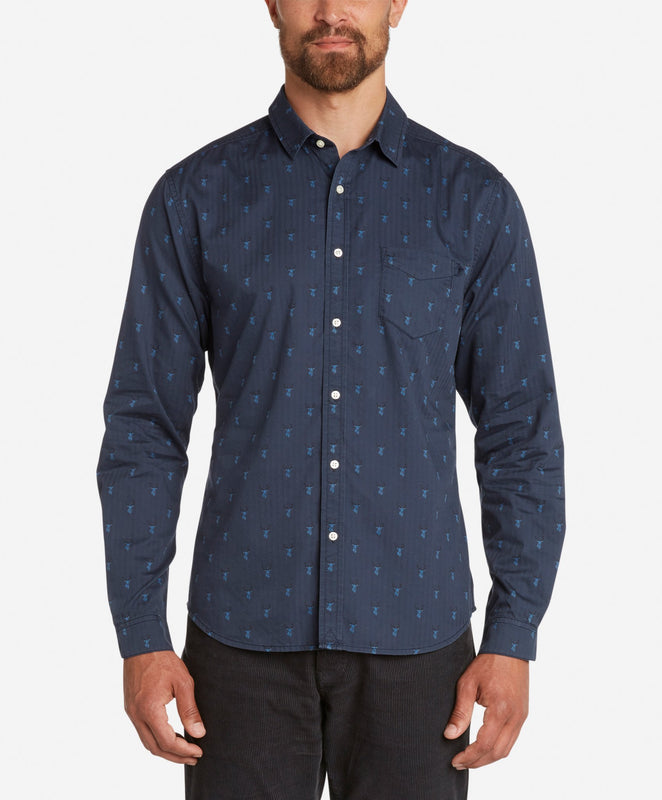 Stag Shirt - Navy