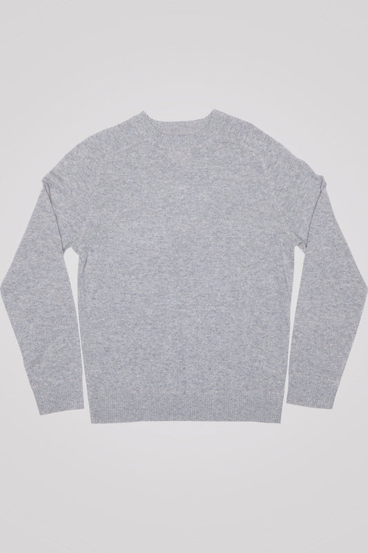 Cashmere Stuyvesant Crew - Heather Grey