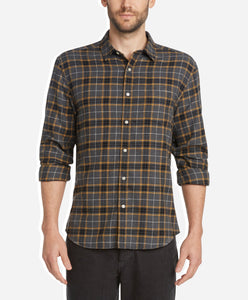 Tartan Flannel Shirt - Heather Charcoal