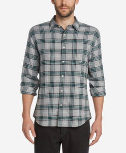 Tartan Flannel Shirt - Heather Grey