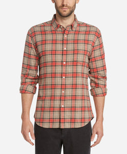 Tartan Flannel Shirt - Heather Portobello