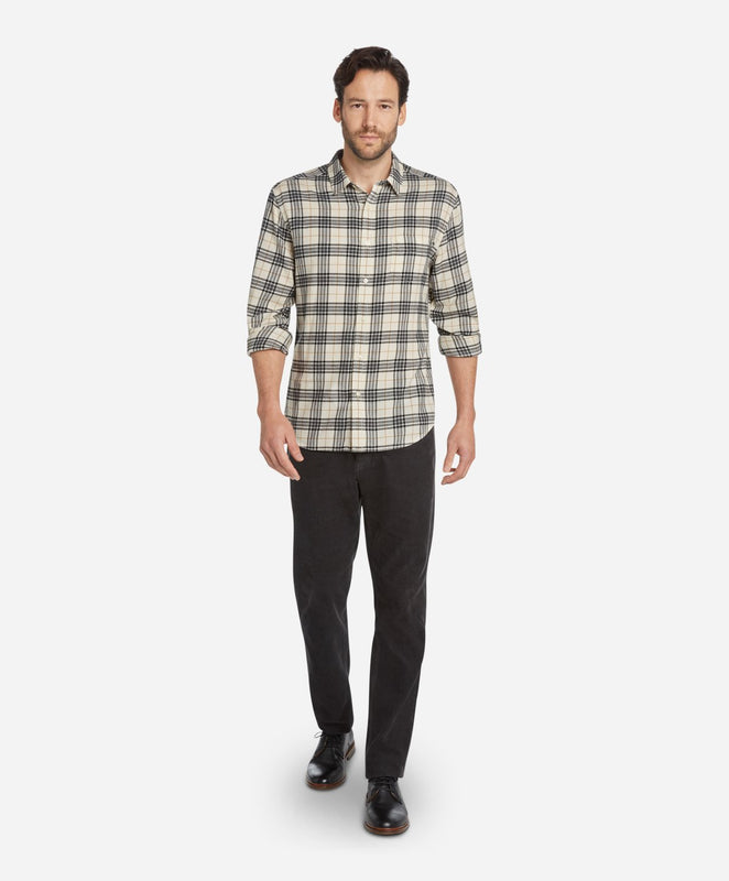 Tartan Flannel Shirt - Heather Irish Cream