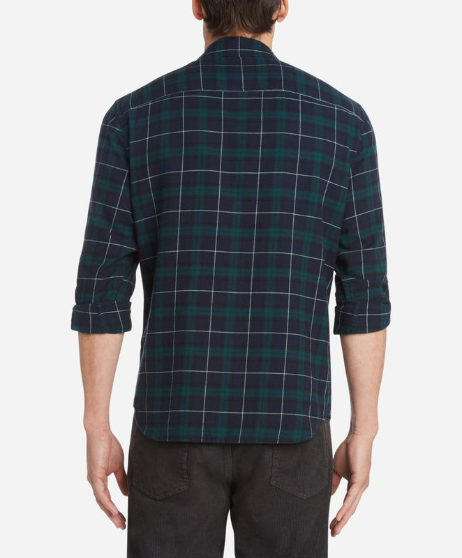 Tartan Flannel Shirt - Royal Navy