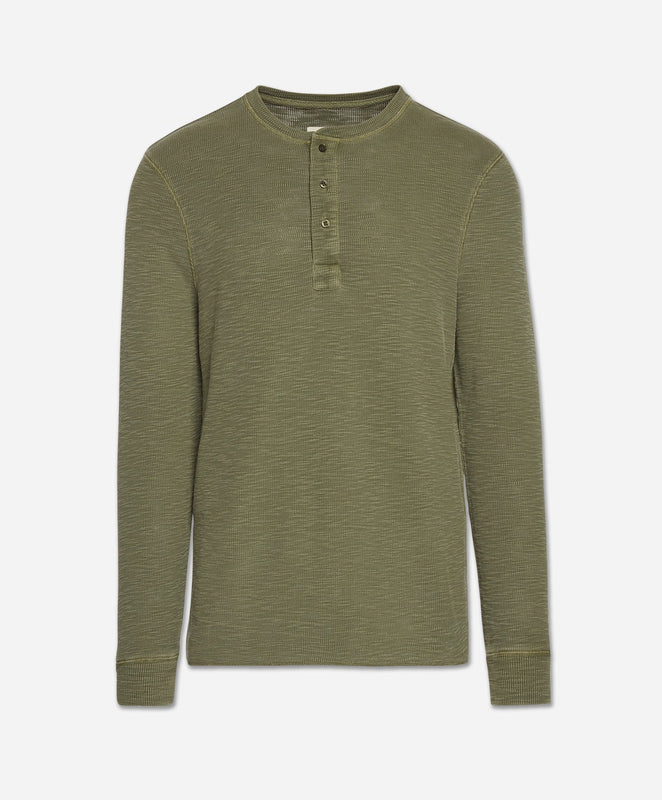Thermal Henley - Field Green
