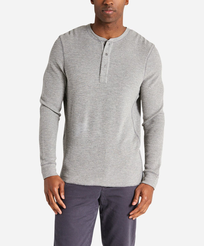 Thermal Henley - Heather Grey