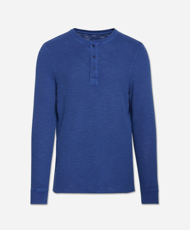 Thermal Henley - Yale Blue
