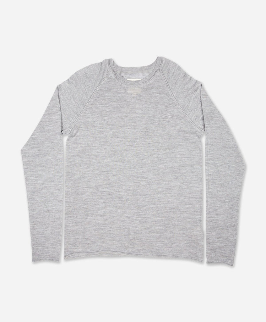 Troubadour Merino Raglan - Heather Grey