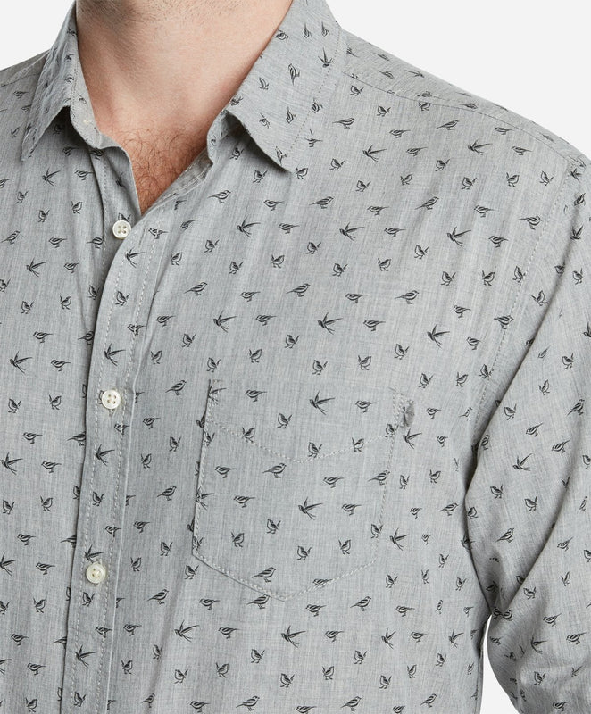 Twitter Print Shirt - Light Heather Grey