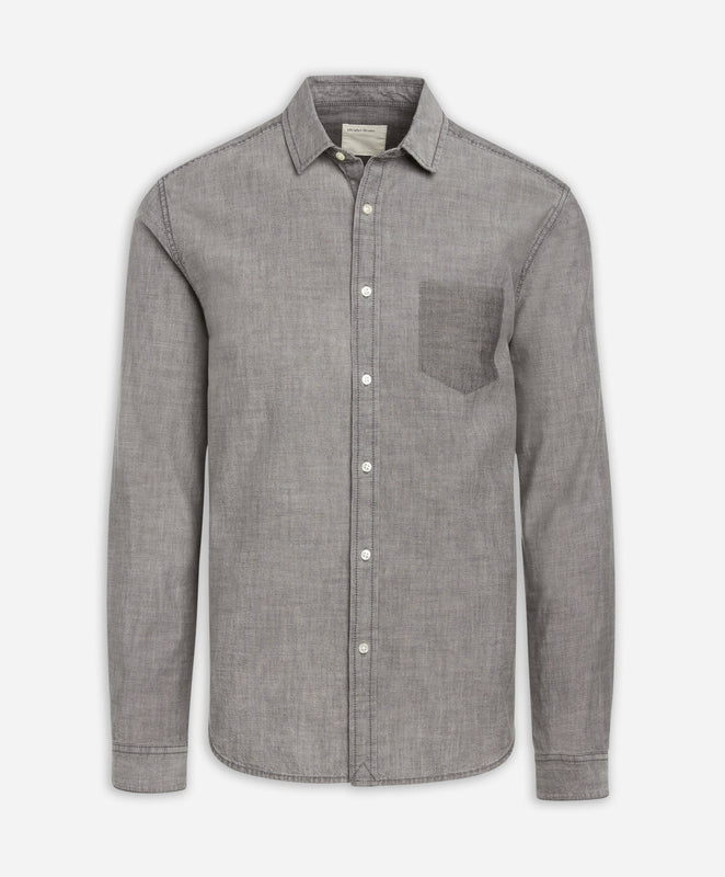 Watson's Bay Chambray Shirt - Medium Grey