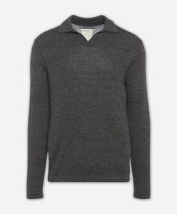 Westmount Polo Sweater - Heather Black