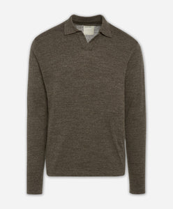 Westmount Polo Sweater - Heather Woodshire