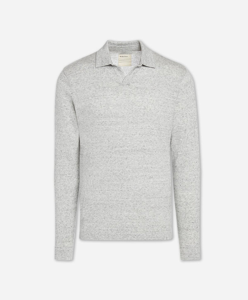West Mount Polo Sweater - Light Heather Grey