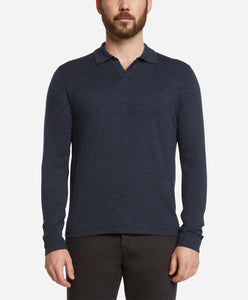 Westmount Polo Sweater - Heather Navy