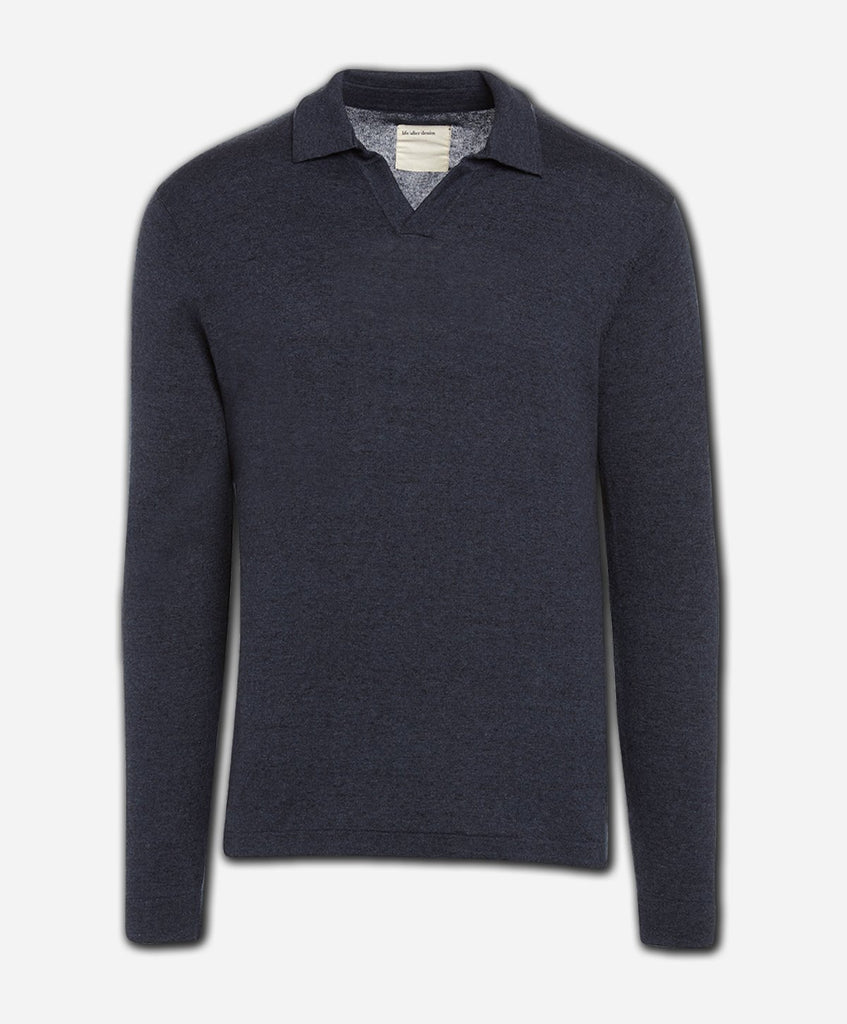West Mount Polo Sweater - Heather Navy