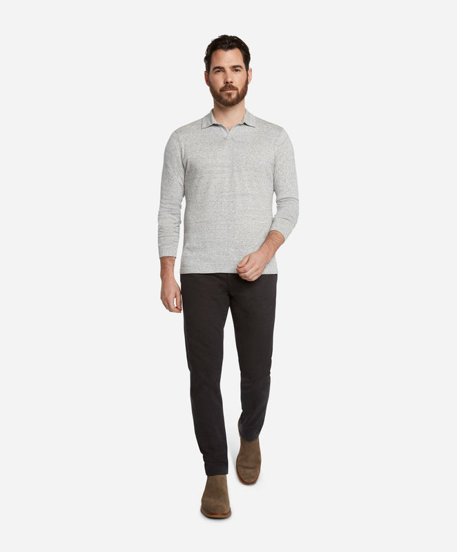 Westmount Polo Sweater - Light Heather Grey