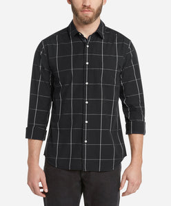 Windowpane Shirt - Black