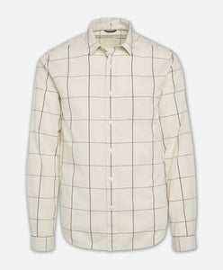Windowpane Shirt - Irish Cream