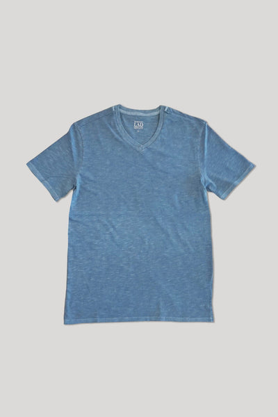 Club V-Neck Tee - Light Blue