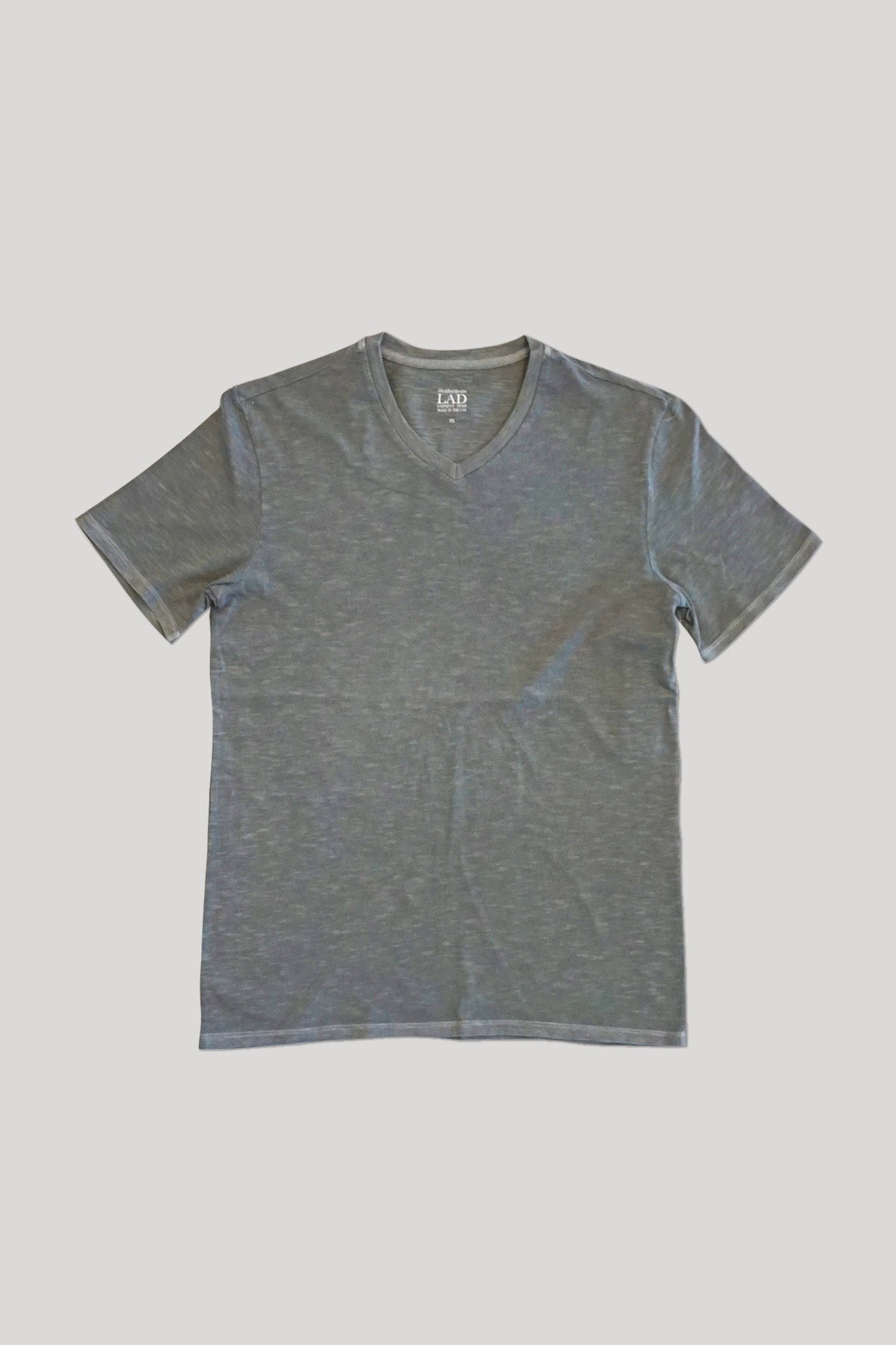 Club V-Neck Tee - Medium Grey