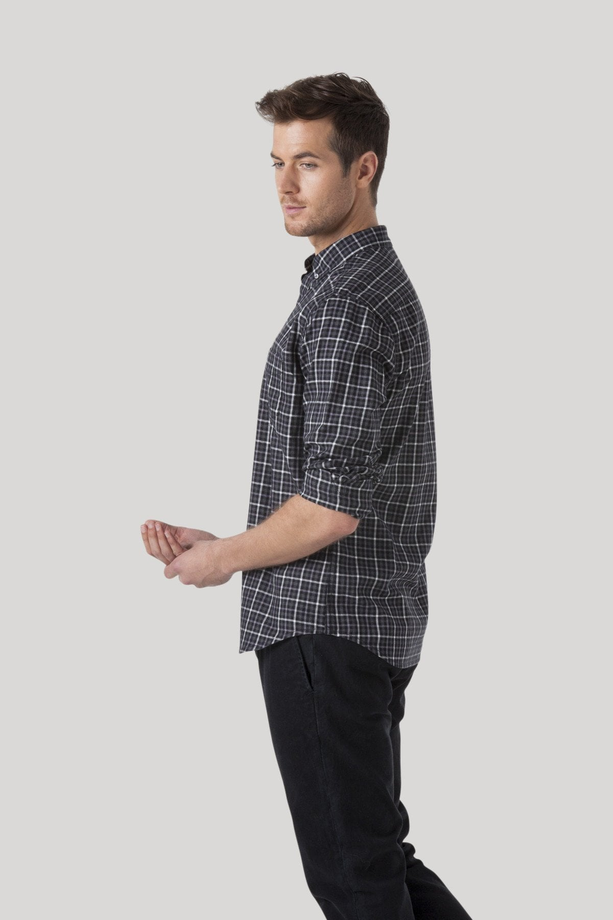 Gridlock Shirt - Jet Black