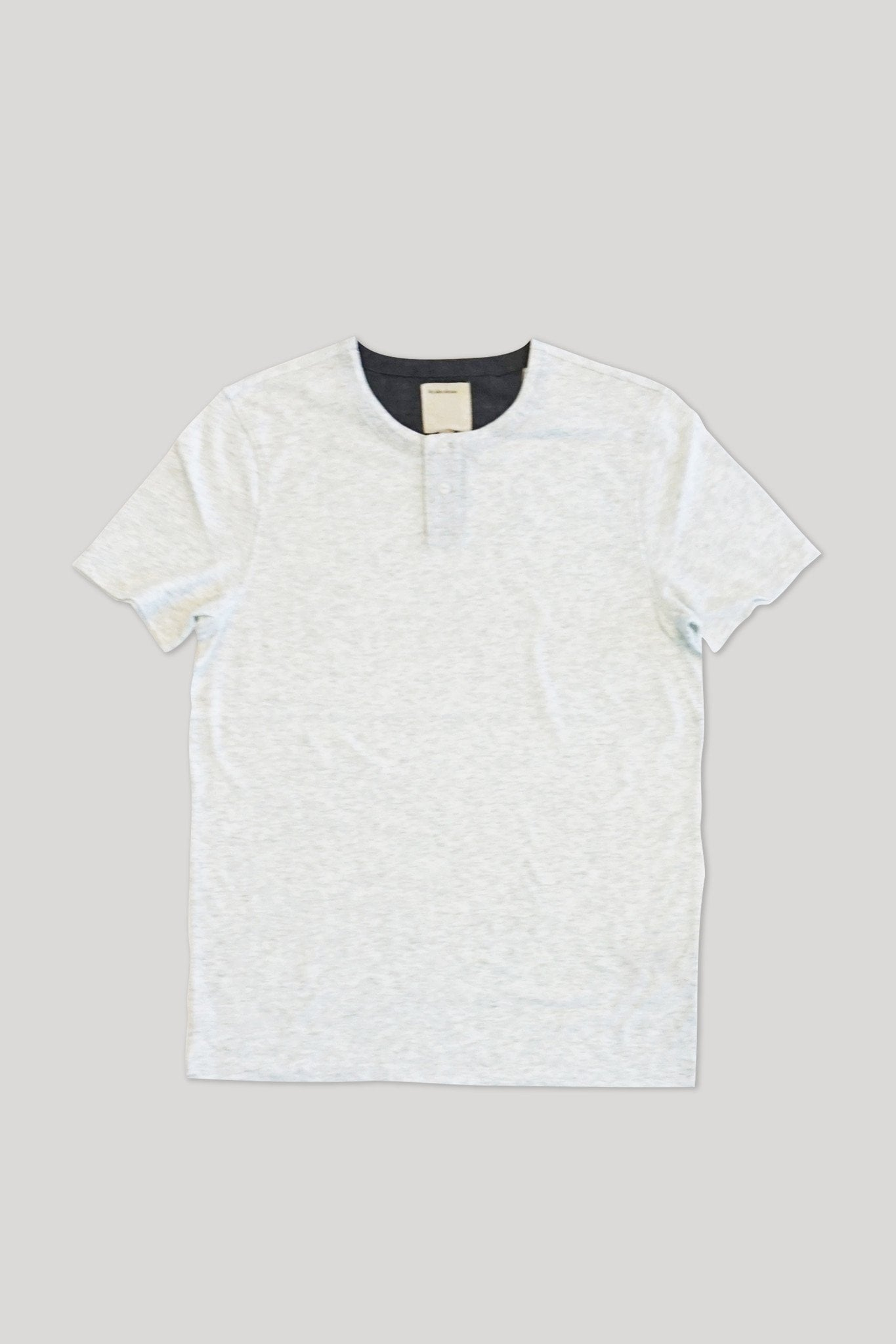 S/S Hachiko Henley - Heather Blanc