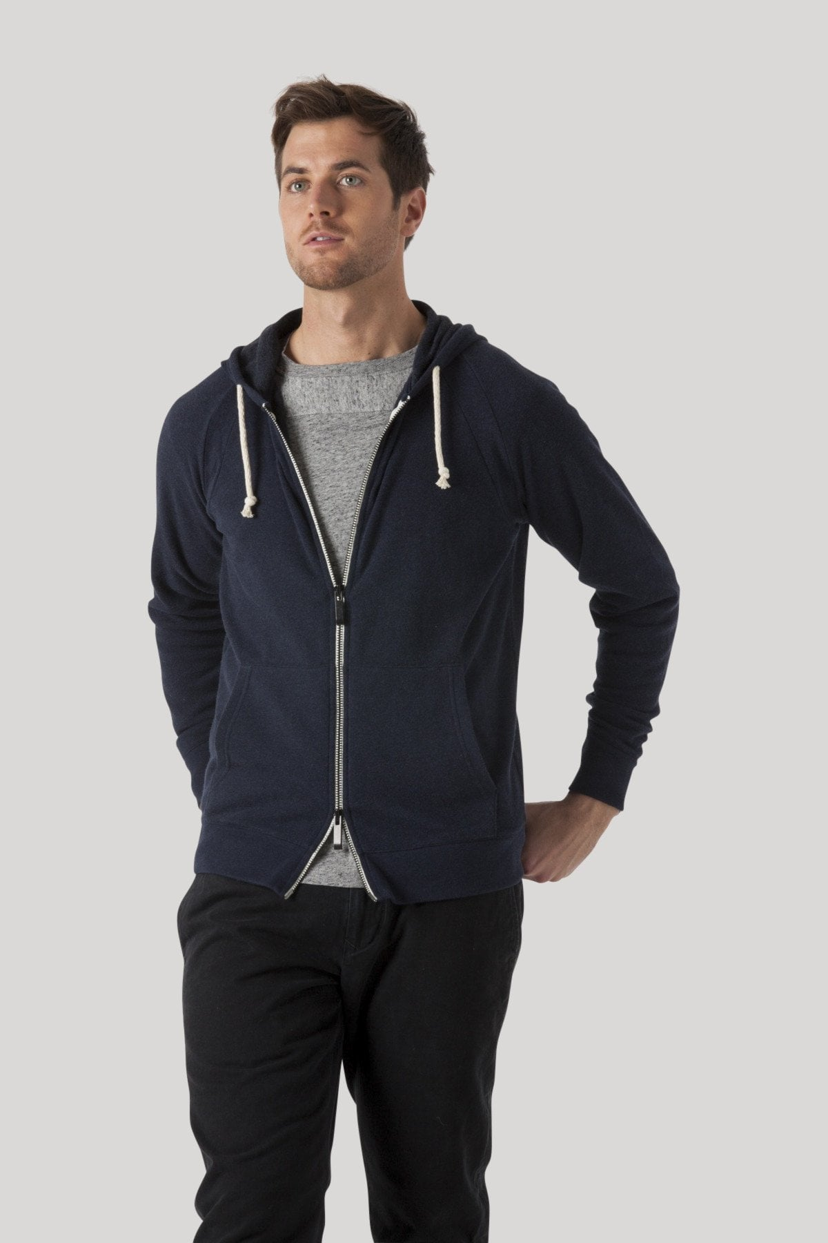 Herald Hoodie - Heather NYPD Blue