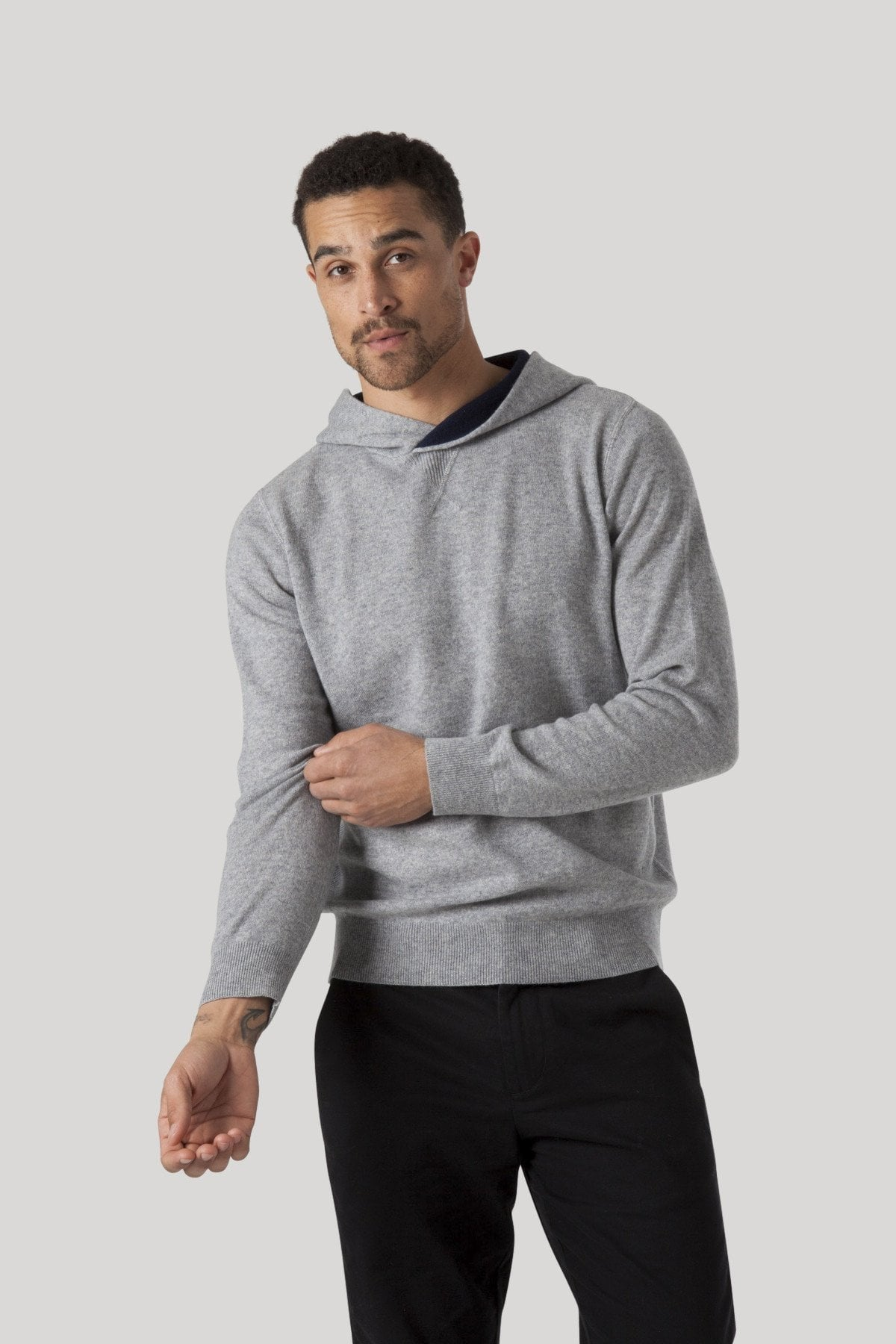 Cashmere Midtown Hoodie - Heather Grey