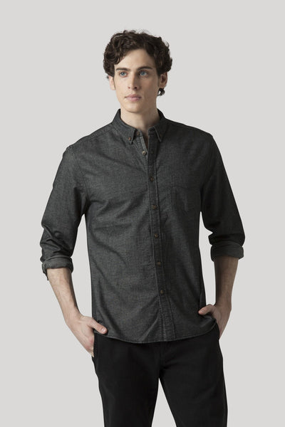 Omaha Oxford Shirt - Jet Black