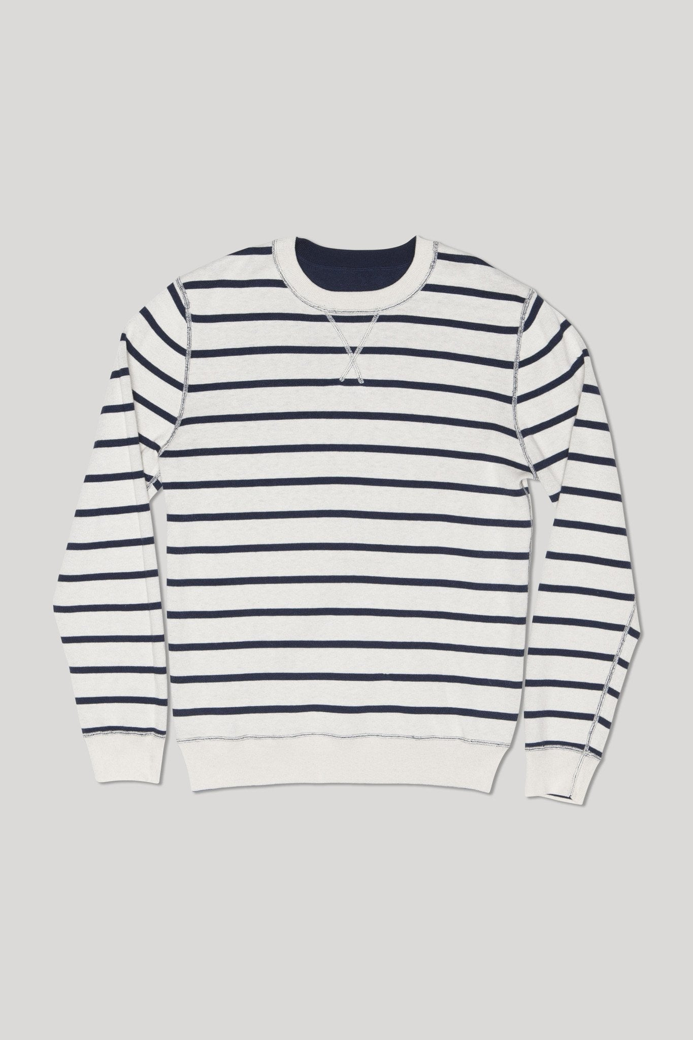 Reversible Shinju Crew Sweater - Bone