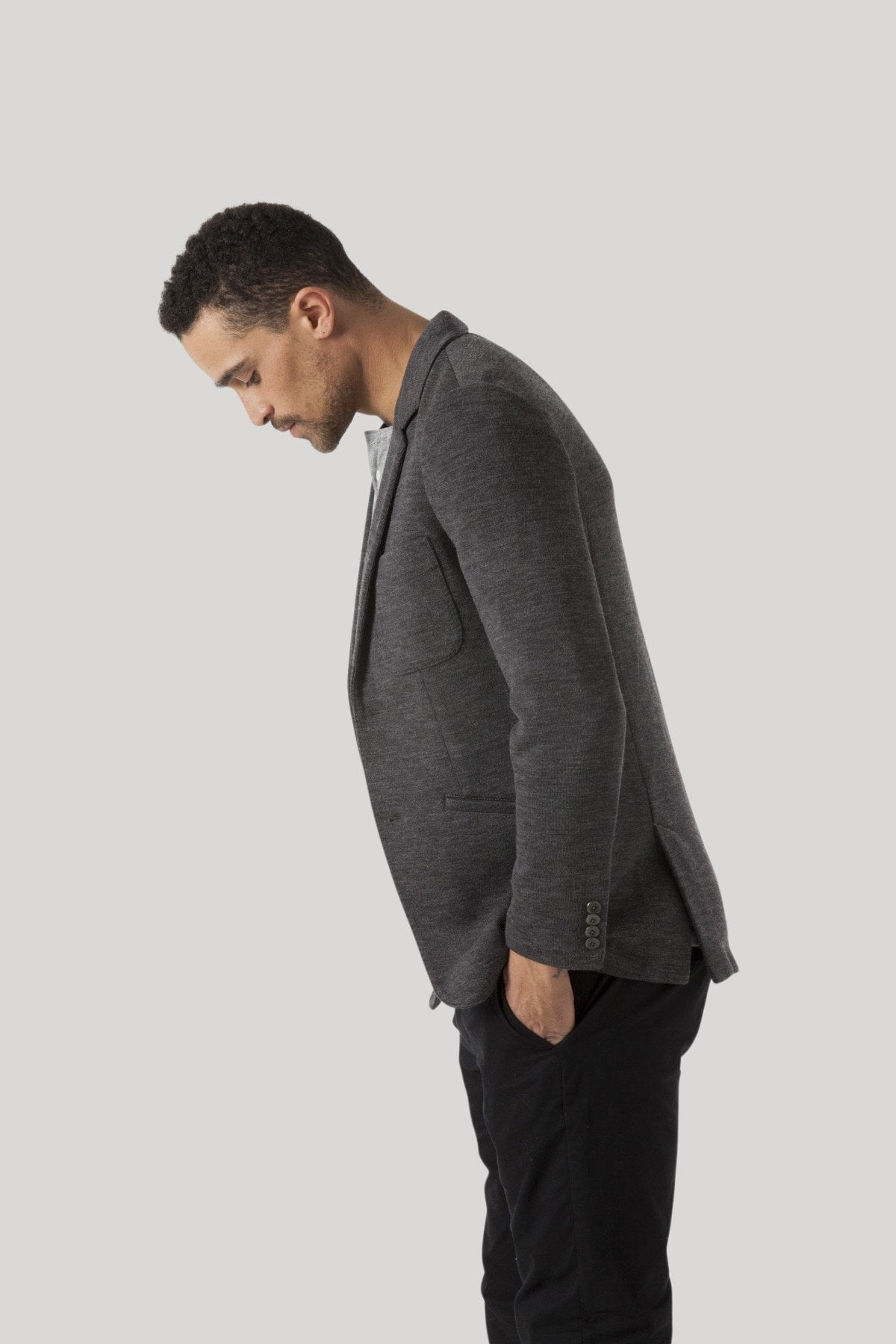 Roxbury Blazer - Heather Charcoal