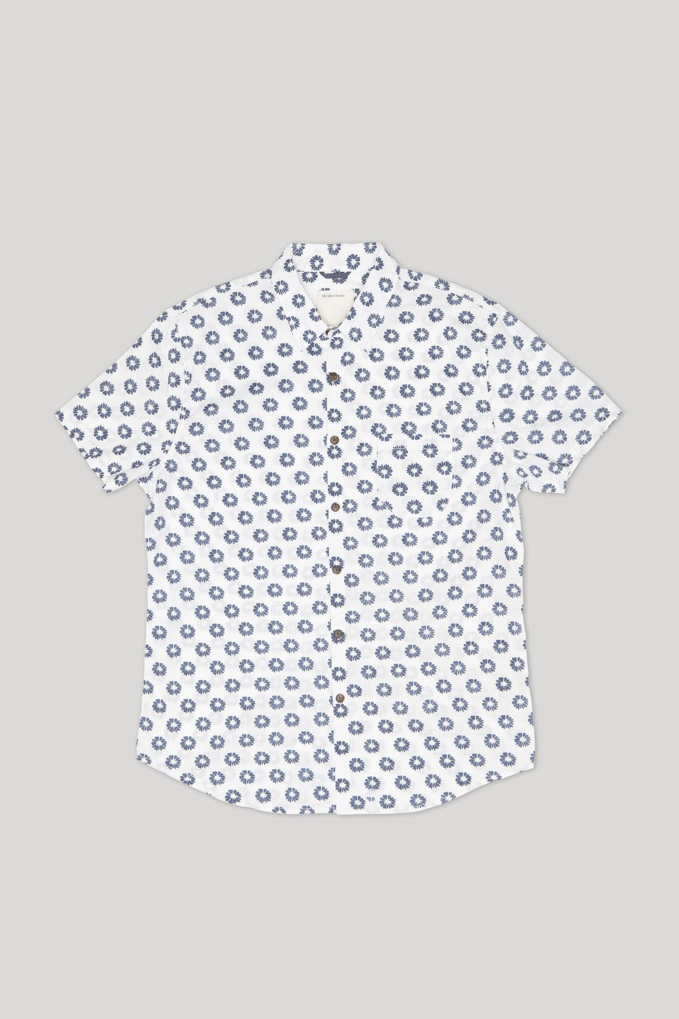 Shibori Shirt - Whitewash