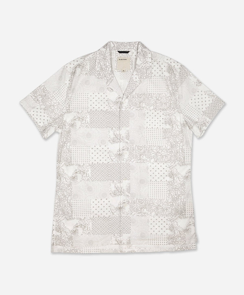 Patchwork Short Sleeve Shirt - White