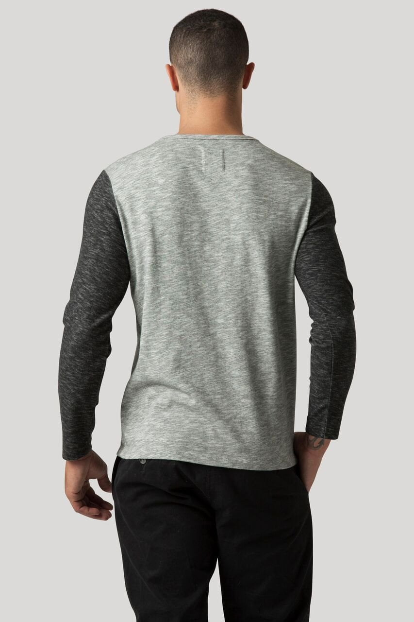 Baseball Tee - Heather Grey