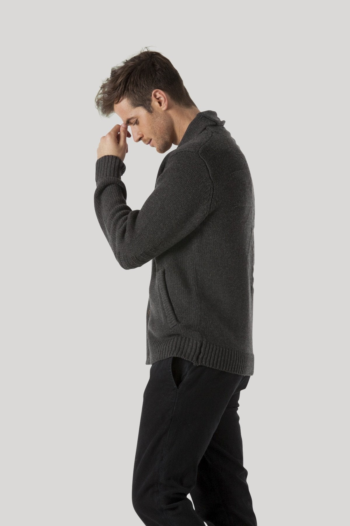 Wythe Cardigan - Heather Charcoal