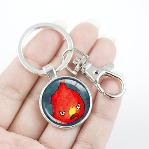 Ghibli Calcifer Key Chain