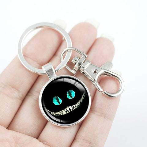 Cheshire Cat Grin Key Chain