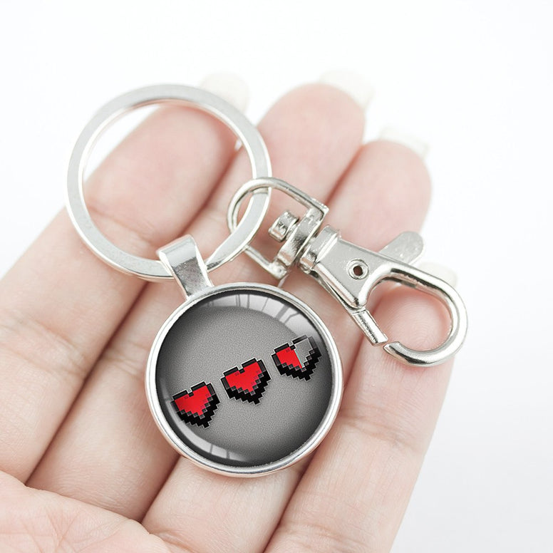 Heart 8-Bit Key Chain