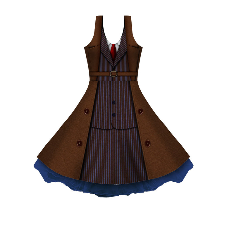 The 10th Cosplay Sleeveless Skater Dress