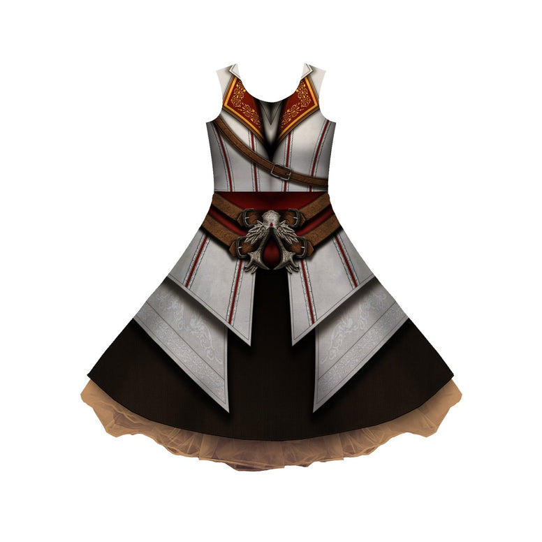 Assassin Cosplay Sleeveless Skater Dress