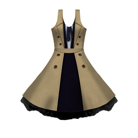 Castiel Cosplay Sleeveless Skater Dress