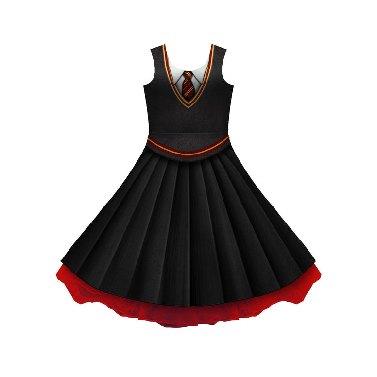 House Red And Gold Uniform Cosplay Skater Dress
