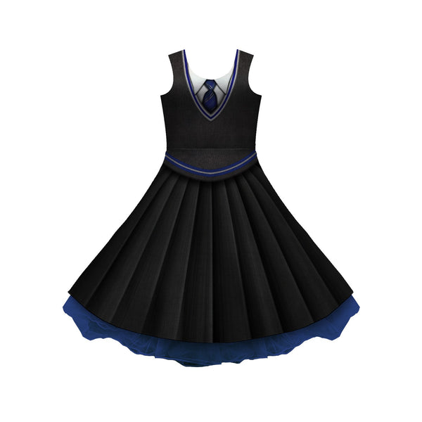 House Blue And Silver Uniform Cosplay Skater Dress