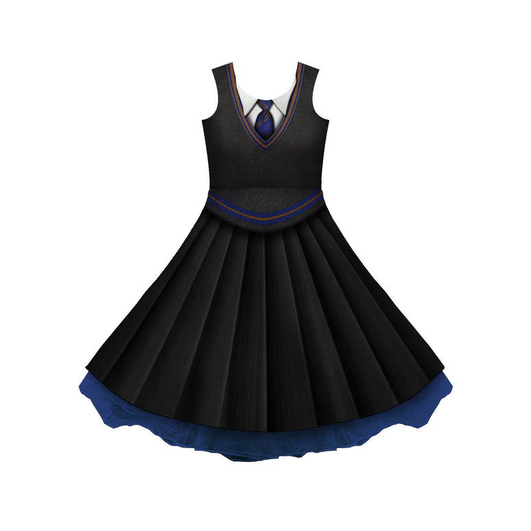 House Blue And Bronze (Book Version) Uniform Cosplay Skater Dress