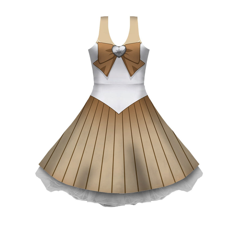 PKMN Senshi Normal Cosplay Sleeveless Skater Dress