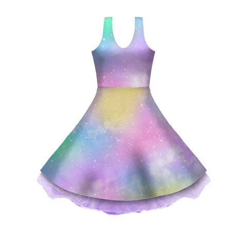 Dreamy Rainbow Sleeveless Skater Dress
