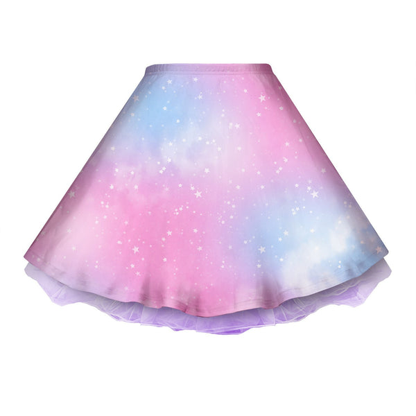 Dreamy Space Pink and Blue Skirt